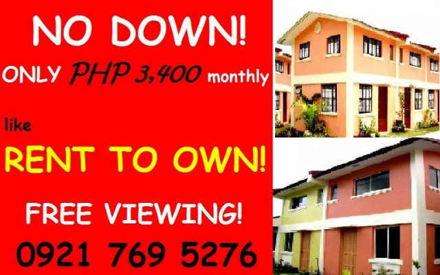 rent to own homes in imus cavite  no down payment only 3k