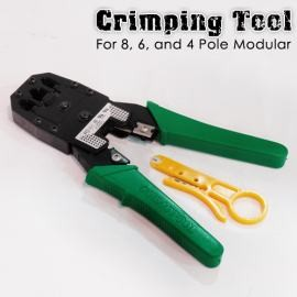 crimping tool for 8pole 6pole and 4pole modular plug strips and cuts tool offer unit 101 102 g. Black Bedroom Furniture Sets. Home Design Ideas