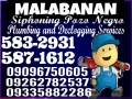 MALABANAN SIPHONING SERVICES 5832931/09096750605 need Others