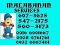 Jm Malabanan Siphoning Pozo Negro Services 547-2175,09089761761 need Jobs & Services