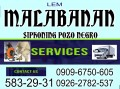 caloocan malabanan siphoning services 5832931/09096750605 need Jobs & Services