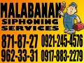 BACOOR Cavite Malabanan declogging services 962-3331 / 09212454576 need Jobs & Services